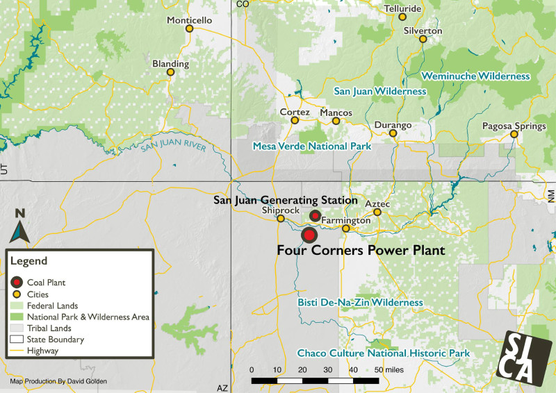 Four Corners Power Plant Map
