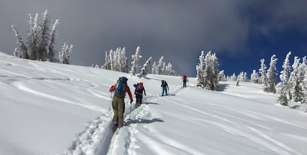 Photo of skiers at Wolf Creek