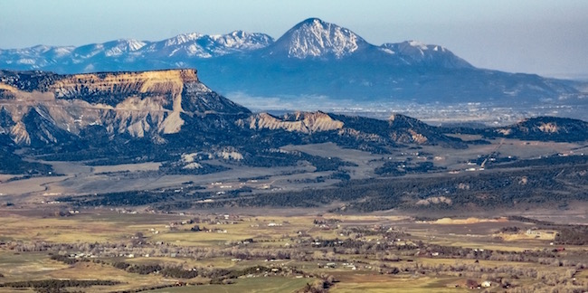 Ecoflight aerial photo over Mesa Verde and Montezuma County