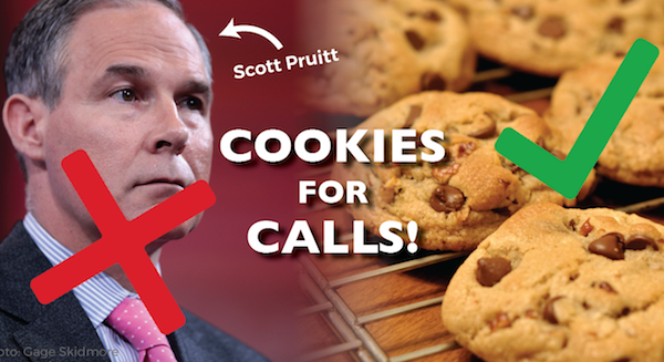 Image for Cookies for Calls: No Pruitt for EPA