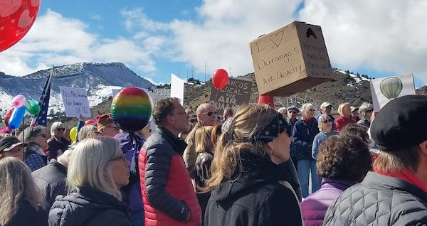 Photo of Methane rally outside Gardner's office