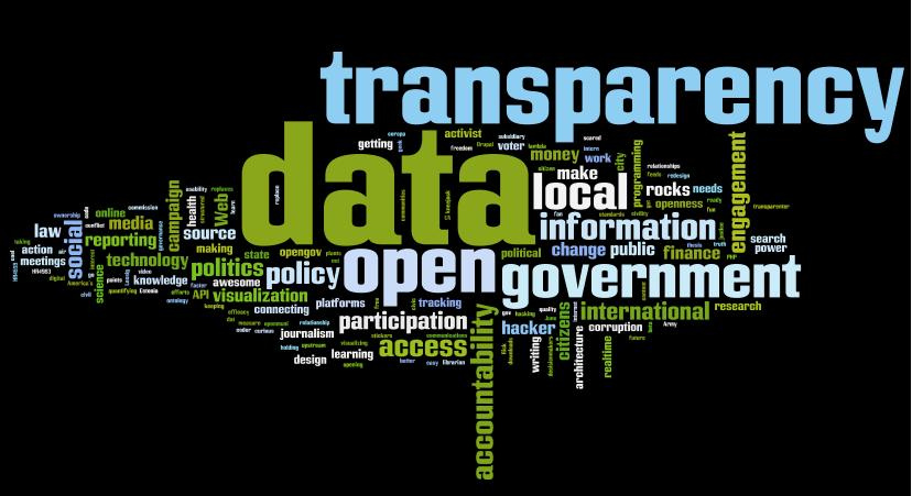 Word bubble of government transparency