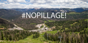 Banner of Wolf Creek Ski Area with #NOPillage