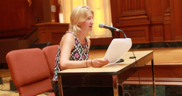Emily making public comments to EPA on suspension of methane rule