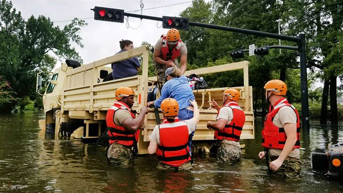 Flooding and rescue after Hurricane Harvey