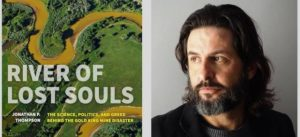 Photo of River of Lost Souls book cover and Jonathan Thompson